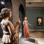 Prises de vue de l'exposition Sienne, aux origines de la Renaissance.